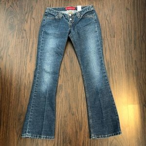 Levi's 520 jeans too super low bootcut size 5M